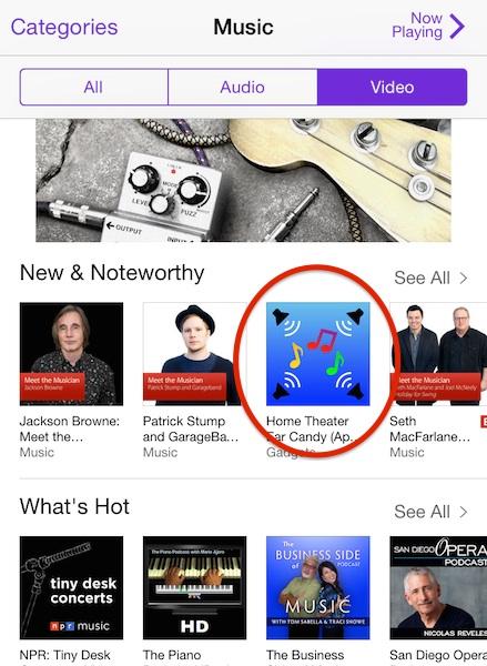 iTunes screen capture
