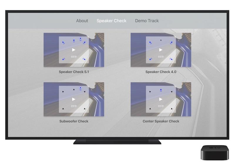 Surround Speaker Check Home Screen image.