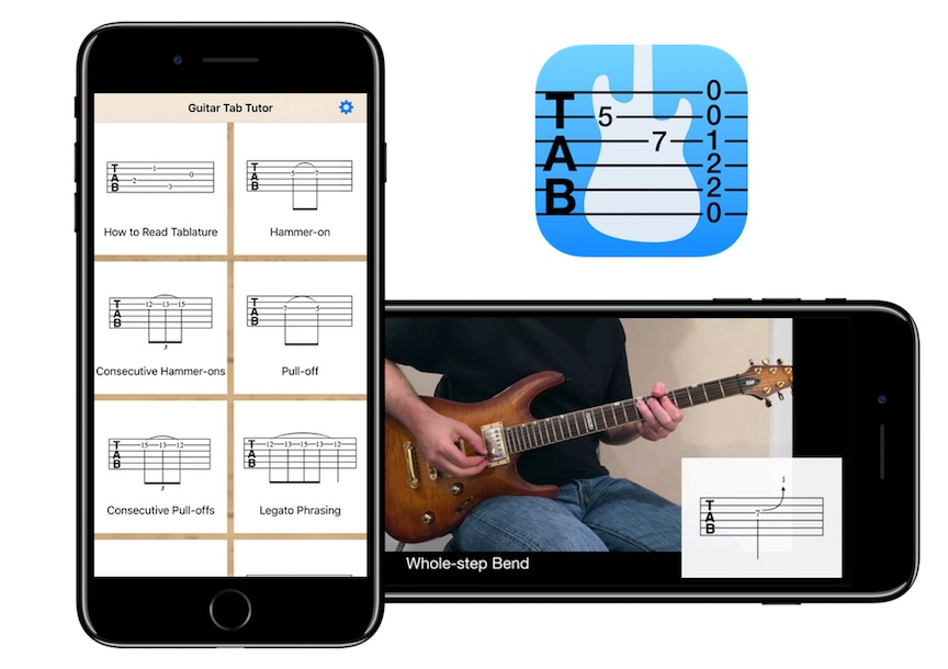 Learn to Read Guitar Tablature with Guitar Tab Tutor App for iOS