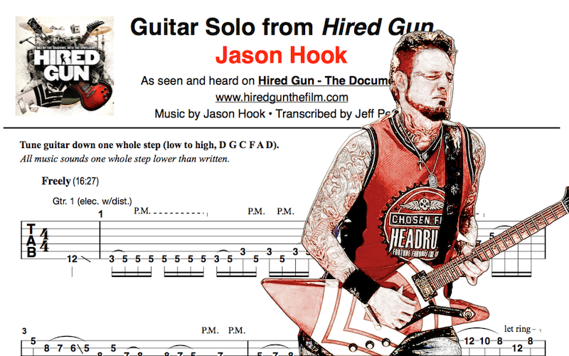 Learn to Play Jason Hook's Guitar Solo from 'Hired Gun' [TAB]
